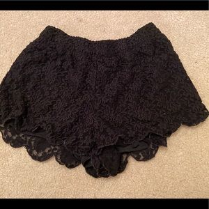 Free People Black Lace Shorts Size Small